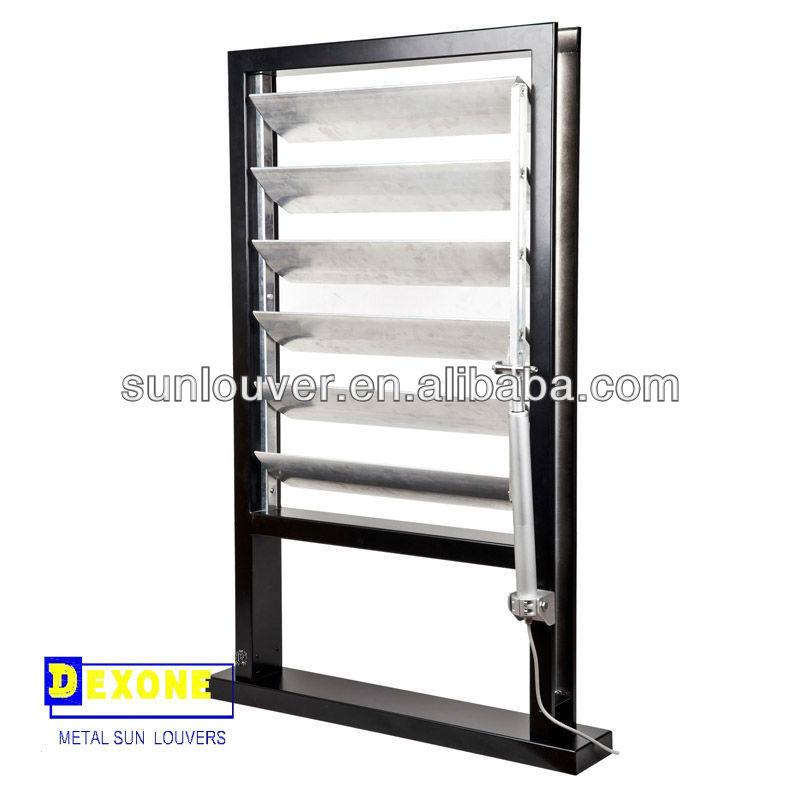 Persiana de aluminio operable motorizado control solar - Lamas persianas aluminio ...