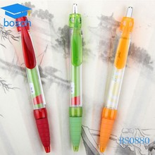 Novelty promotional retractable plastic banner ball pen