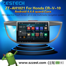 100% android 4.4 autoradio gps mirror link for Honda CR-V-10 android double din in dash car dvd player with gps