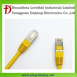 Yellow color RoHS network RJ45 cat 6 cable