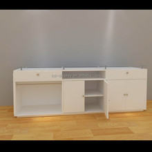 hot new products for 2015 harmonious colors phoroptor/clothing design modern display/Accessory retail store metal wooden unit
