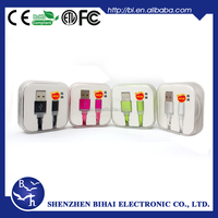 2015 factory price hot sale original usb charging cable for apple iphone 6 with colorful
