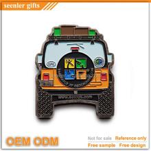 custom made lovely car design magnetic lapel pin