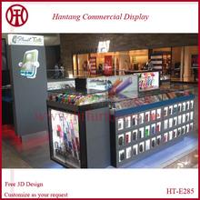 2015 yanli style 14x10 feet display phone showcase cosmetic showcase with glass led