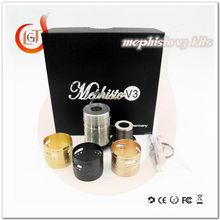 retro wide bore copper drip tip for mephisto rda