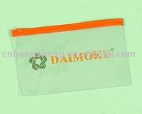 Transparent pvc zipper exam bags