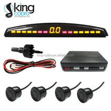 Dual color LED monitor car parking sensor system