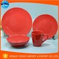 estilo espanhol louça cerâmica vermelha conjunto