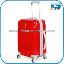 Aluminum luggage trolley/trolley luggage case in red