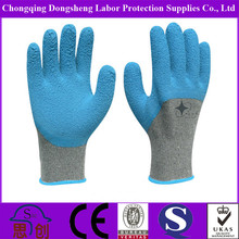 oil-resistant Comfortable colorful safety rubber palm coated work gloves