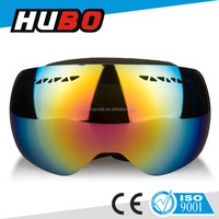 Fashion design mirror lens ski wear custom logo strap ski goggles
