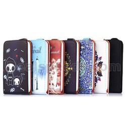 Black Magic Flip Leather+Tpu Vertical Case Cover for Wiko Goa