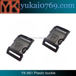 Yukai fashion plastic bag buckle/plastic side release paracord buckle