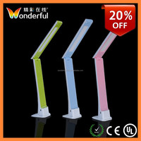 High Brightness Touch Switch Led Desk Lamp with Wall Hanging Function