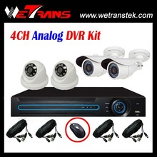 Security Camera System 4CH D1 NVR Analog Kit CMOS 3.6mm Lens Camera CCTV Dvrs Kit