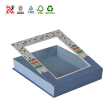 Top quality handmade paper box with clear plastic cover