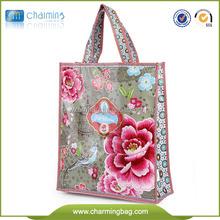 Lovely Handle shopping bag pp woven bag promotional tote bag