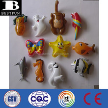 Promotional customized inflatable small plastic animal toy OEM cheap custom made small soft vinyl toy