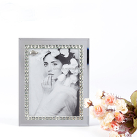 2015 new style siliver glitter glass photo picture frames