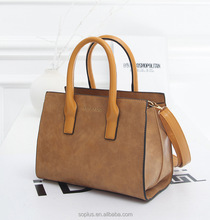 2015 winter fashion nubuck leather handbag vintage messenger bag handbag women's decoration bulb shoulder bag