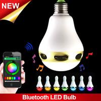 Smart LED Blub Light Wireless Bluetooth Speaker E27