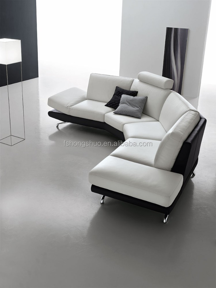 modern half round shaped leather couch sofa for sale buy