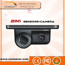 2in1 rear view car vandalism camera with parking sensor / reversing camera with parking sensor