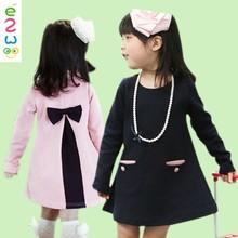 Lovely Children's Girls Princess Long Sleeve Cotton Dress