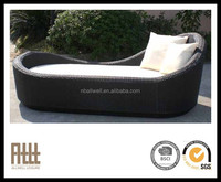 2015 Hot Sale Stylish Outdoor Sunbed Rattan Chaise Lounger Waterproof Sun Lounger Cushion From Ningbo Manufacter AWRF5137