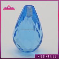 2mm hole beads gemstone,faceted aquamarine gemstone bead