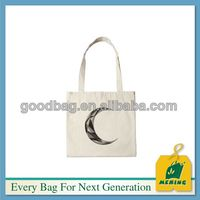 tote bolsa de lona de algodon blanco liso Made In China MJ-CN0226-C