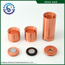 New copper mechanical mod e cig high quality copper 4nine