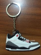 3D contrasting black and white michael jordan 3s shoe keychain bulk sale