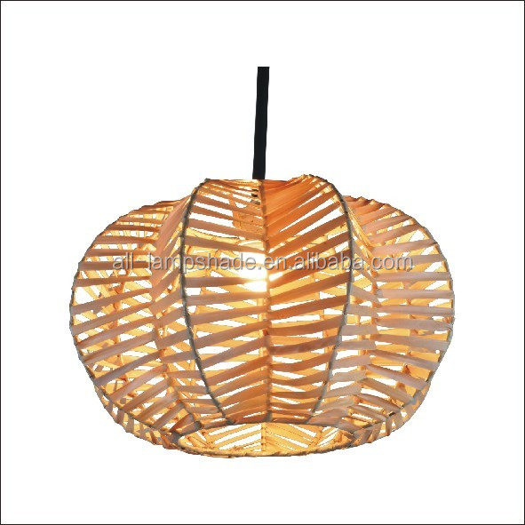 Natural Handmade Woven Shade Rattan Lamp Shade For Pendant