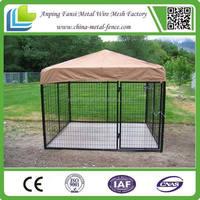 wholesale double door dog kennels top with waterproof cover
