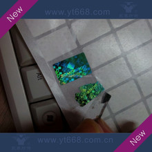 High quality easy destroyed security hologram label