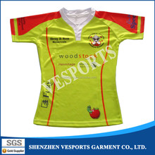 Oem factory custom cheap practice rugby jersey