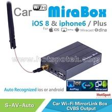 Original manufacturer! OEM/ODM Wireless car wifi mirrorlink mirabox / car audio system for honda city