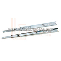 45mm three-fold mini ball bearing telescopic channel drawer slide