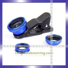 Top product 3 in 1 mobile phone lens with univesal clip, 0.67x wide fisheye macro lens