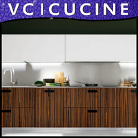 American style pecan kitchen cabinets