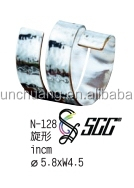 Spiral Stainless Steel Napkin Ring With Hammered Points For Hotel