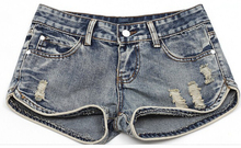 Ladies <span class=keywords><strong>Jeans</strong></span> Shorts Slim Fit Ripped vaqueros cortos