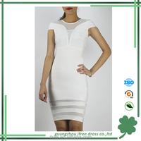 Black White Beige Sleeveless V neck bandage dress latest net dress designs
