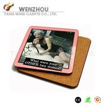 (TWA-012) Fashion square Blank Sublimation Coaster /wooden tea coasters