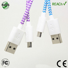 Mobile Phone,Computer Use and Standard USB Type Nylon Fabric Braided USB Cable