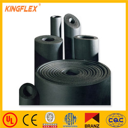 NBR/PVC closed cell black rubber foam insulation sheet and roll
