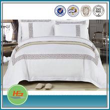 Luxury hotel bed design embroidered duvet cover set