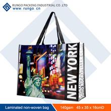 Reusable laminated non woven polypropylene tote bag, reusable shopping bag