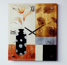 art painting decorative time wall clock wholesale